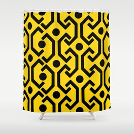 Ethnic Pattern (Yellow) Shower Curtain