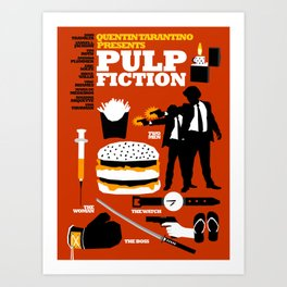 Quentin Tarantino - Pulp Fiction Art Print