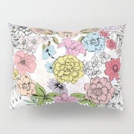 Pastel garden Pillow Sham