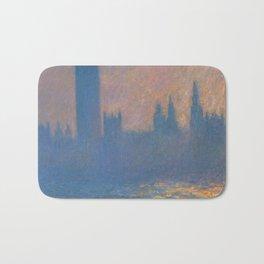 """Claude Monet """"The Houses of Parliament, Sunlight Effect"""" (1903) Bath Mat"""