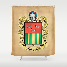 Vuletich Coat of Arms Shower Curtain