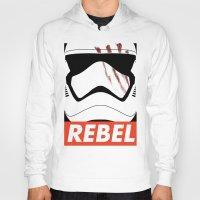 rebel Hoodies featuring REBEL by Bertoni Lee