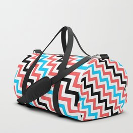 Maritime diagonal chevron Duffle Bag