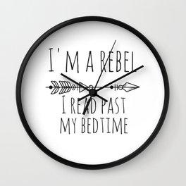 I Read Past My Bedtime Wall Clock