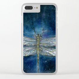 Interstellar Dragonfly Clear iPhone Case