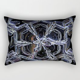 Water as a Crystal, pattern snowflake art on leggings and more! Rectangular Pillow