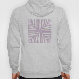 Geometric White on lilac purple autumn fall tropical pattern Palm leaves society6 Hoody