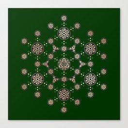 molecule of life. sacred geometry. alien crop circle Canvas Print