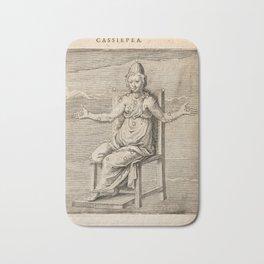 Hugo de Groot's Syntagma Arateorum 1600 - 42 Cassiopeia Bath Mat