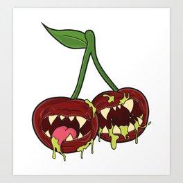 Monster Cherry Art Print