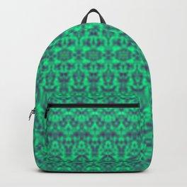 Hidden Animals In Green Damask Backpack