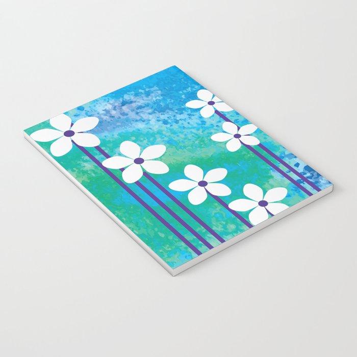 Watercolor Flowers Notebook