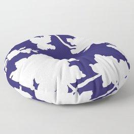 Chinoiserie Silhouette Navy Floor Pillow