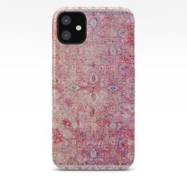 Pink Vintage Antique Oriental Traditional Moroccan Original Artwork iPhone Case