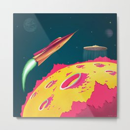 FLYING SAUCERS ATTACK Metal Print