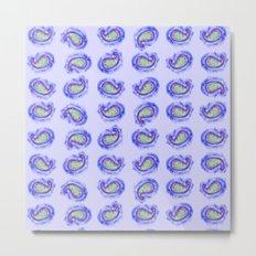 Blue Paisley Watercolor Metal Print