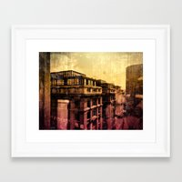 brussels Framed Art Prints featuring Brussels by Flying Kiwi