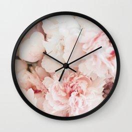 Peonies- Print IV Wall Clock