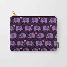 Pastel Goth Purple Elephants Carry-All Pouch