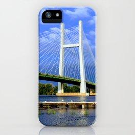 Bridge in Burlington, Iowa iPhone Case