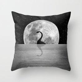 Nessie Starry Night II - Loch Ness Monster Throw Pillow