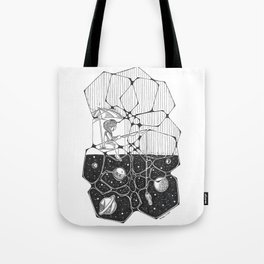 Fishing in the Stars Tote Bag