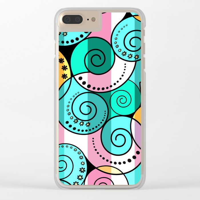 Abstraction. Bright colorful pattern. Clear iPhone Case