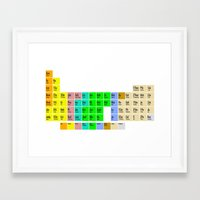 bible Framed Art Prints featuring PERIODIC BIBLE by MR TEE