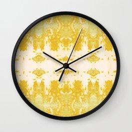 Kumo Ikat Turmeric Wall Clock