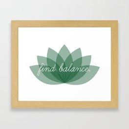 Find Balance - Lotus Framed Art Print