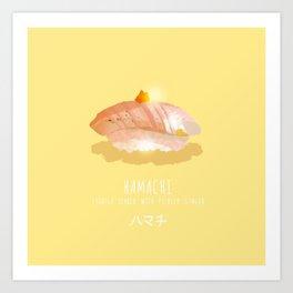 Hamachi Sushi Art Print