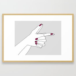 Bang Bang Framed Art Print
