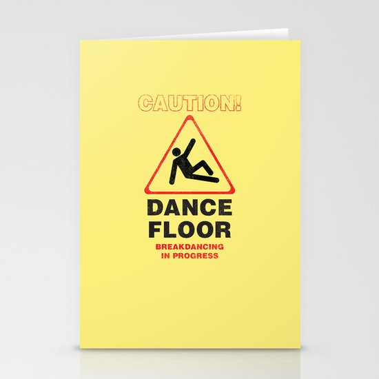 Cuation: breakdancing Stationery Cards