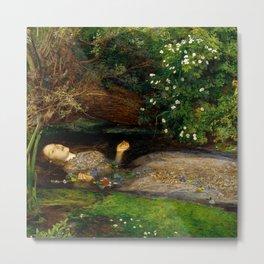 "John Everett Millais ""Ophelia"" Metal Print"