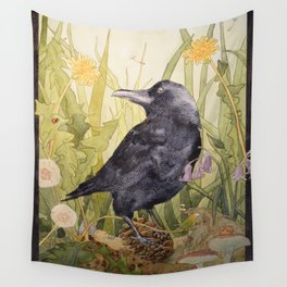 Canuck the Crow Wall Tapestry