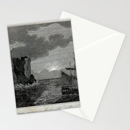 View of the North Cape, with the Sun Shining at Midnight (Norway, 1825) Stationery Cards