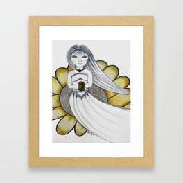 Daisy Girl by Saribelle Rodriguez Framed Art Print