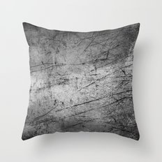 Industrial Grey Grunge Throw Pillow