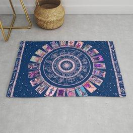 Major Arcana & Wheel of the Zodiac   Pastel Goth Rug