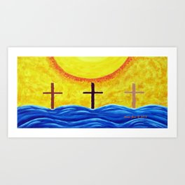 No Matter What Your Race Jesus Saves All By Grace By Annie Zeno Art Print