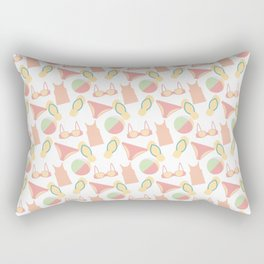Pattern with swimsuits Rectangular Pillow