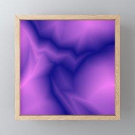 Pastel lines of violet lightning with a vintage gap. Framed Mini Art Print