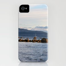 Sail Away On Galway Bay - Ireland Ocean Landscape - Blue iPhone (4, 4s) Slim Case