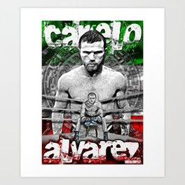 CANELO ALVAREZ VINTAGE SHIRT Art Print