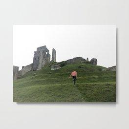 Corfe Castle Wanderlust medieval Metal Print