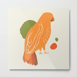 Quirky Australian King Parrot Metal Print