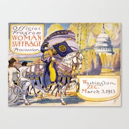 Woman suffrage procession March 3, 1913 Canvas Print