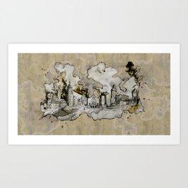 Cottbus Monument Skyline Illustration by carographic, Carolyn Mielke Art Print