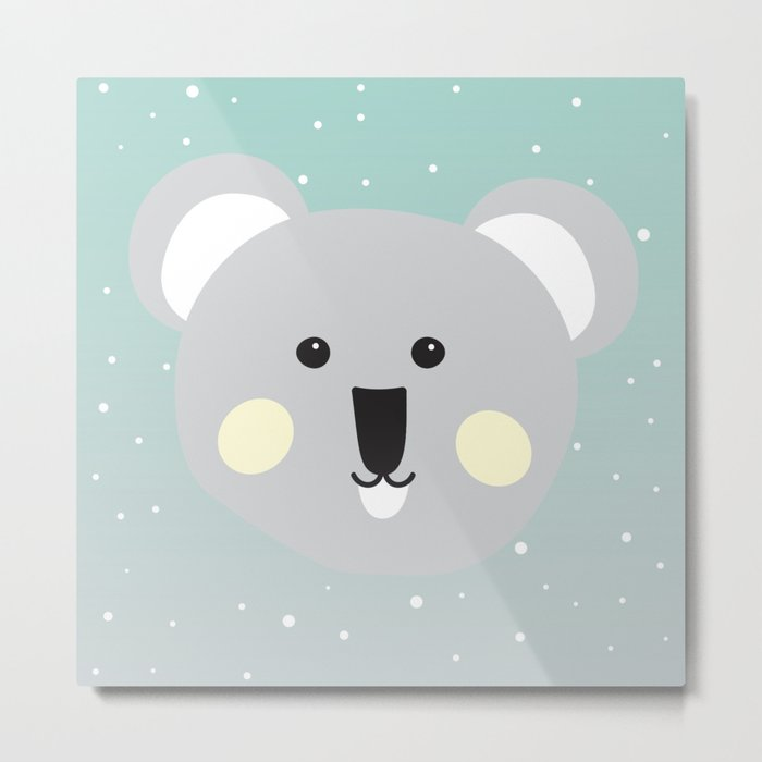Cute Drop Bear Metal Print