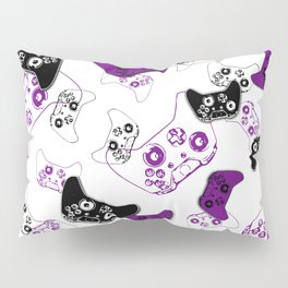 Video Game White & Purple Pillow Sham